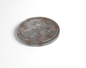 3D model Old coin