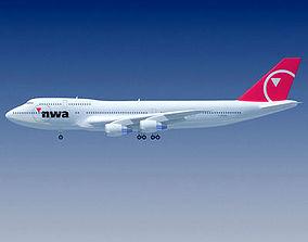 Boeing 747 North West V2 3D model