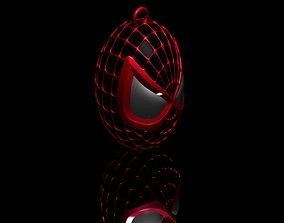 3D printable model Spider Man Black Head Keychain