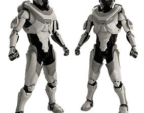 Gray Robot 3D