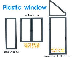 Plastic casement window 3D model