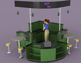 Kiosk 3 3D model