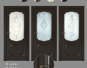 Interior doors Kronwood glass 3D