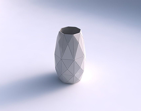 Spacious vase with triangle plates 3D printable model