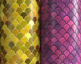 3D Materials 15- Fish scale tiles PBR
