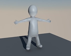 3D model Stickfig with rig