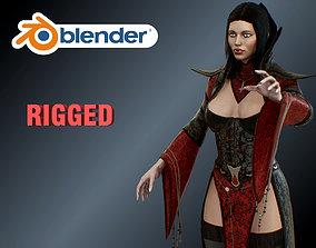 3D model rigged vampire