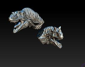 Dino monster head bust 3D print model