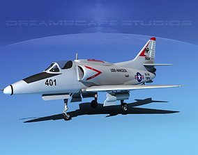 Douglas A-4G Skyhawk V02 USN 3D