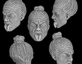 3D print model Maori head