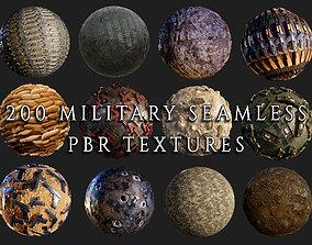 200 Military War Seamless PBR Textures 3D model
