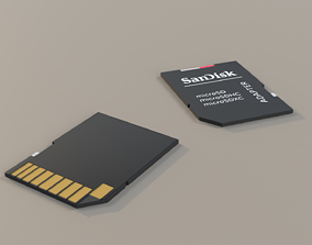 3D Micro SD Card Adapter