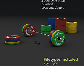 3D Olympic Weightlifting Barbell Crossfit