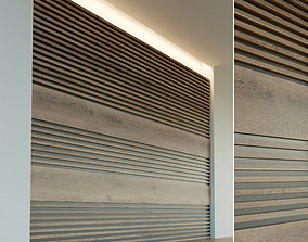 3D model Wooden wall panel 45