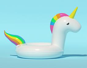 Unicorn Inflatable Swim ring 3D model