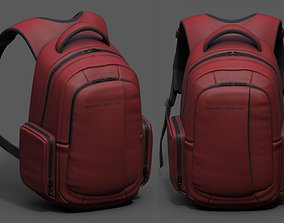 3D asset Backpack red human generic Camping scifi fantasy