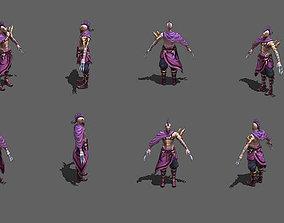 3D asset realtime killer Assassin masked hunter