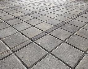 3D model Paving slabs Floor 013