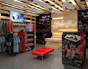 3D model Clothing Store interior Quiksilver 2