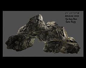 Rock flint 3D asset low-poly