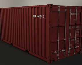 20ft Shipping Container 3D asset game-ready