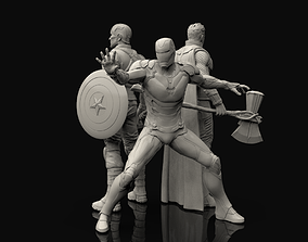 sculptures Avengers Statues Bundle 3D printable model