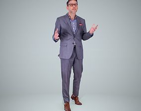 Classy Business Man Wearing Glasses 3D model