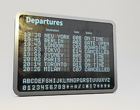 3D model Airport departure billboard
