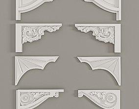 Bezel Stages Decorative Gaudi Elements 3D