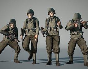 WW2 US-Soldier 3D model