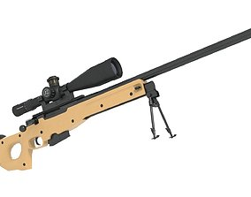low-poly AWP AWM Sniper rifle 3D model LOW POLY