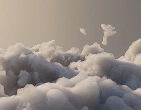 3D model Cloud Polygon Blender 2