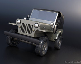 3D model realtime Military Jeep