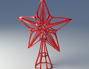 Christmas-tree star decoration 3D printable model