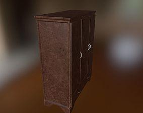 Wooden Wardrobe 3D asset realtime