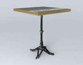 BISTRO TABLE SQUARE ARDAMEZ Company 3D model 7030
