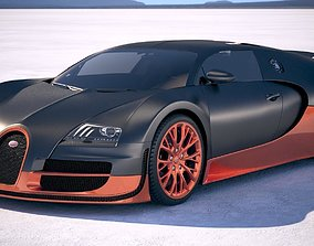 Bugatti Veyron Super Sport 2012-2016 VRAY 3D model