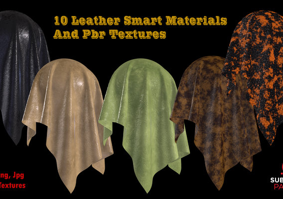 10 High Quality Leather Smart Materials and PBR textures