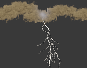3D model animated realtime Lightning