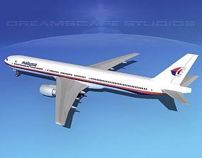 Boeing 777-300 MP Malaysia Airlines 3D