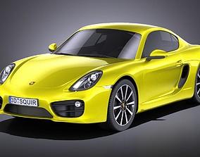 Porsche Cayman 2016 VRAY 3D model
