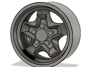 Porsche Cookie Cutter Wheel 3D print model