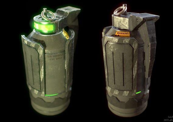 sci fi granade weapon