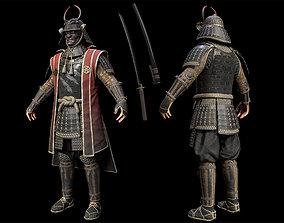 3D asset Samurai Character PBR Game ready