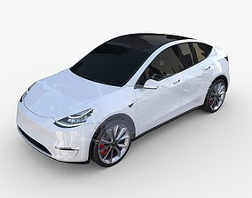 Tesla Model Y AWD White with chassis