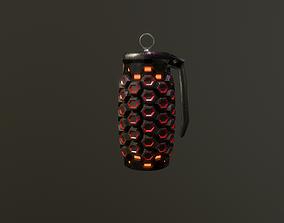 3D asset Sci-fi explode grenade
