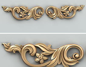 3D Carved decor horizontal 029