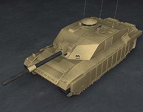 3D model corp Challenger2 British tank