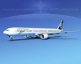 3D Boeing 777-300 New Zealand