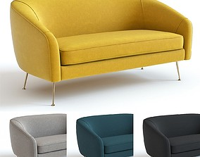 3D West Elm - Stella Loveseat